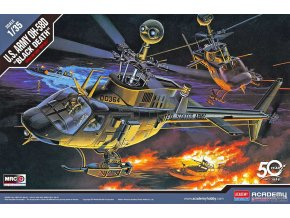 Academy - Bell OH-58D BLACK DEATH, US Army,  Model Kit 12131, 1/35