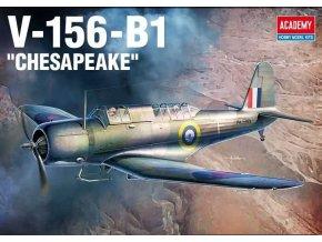 Academy - Vought V-156-B1 Chesapeake / Vought SB2U Vindicator, Model Kit 12330, 1/48