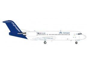 Herpa - Fokker 70, společnost KLM Cityhopper, Nizozemí, 1/200