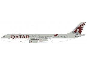 Panda Model - Airbus A340-200, společnost Qatar Airways, Katar, 1/400