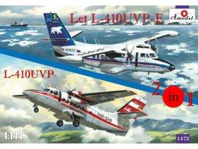A-Model - Let L-410UVP a L-410UVP-E, set 2 kompletních modelů, 1/144