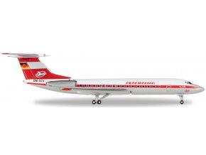 Herpa - Tupolev Tu-134, společnost Interflug, Německo, 1/500