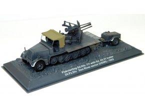 Altaya - Sd.Kfz.7/1 Flakvierling s vozíkem Sd.Ah.51, 24.Pz.Div., řeka Don, 1942, 1/72