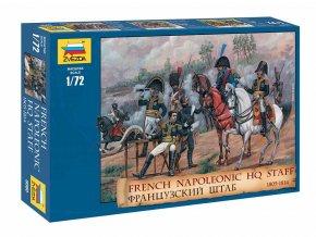 Zvezda – figurky štáb francouzské armáda, napoleonské války, Model Kit 8080, 1/72