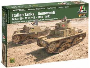 Italeri - Semoventi M13/40 - M14/41 - M40 - M41, Model Kit 15768, 1/56
