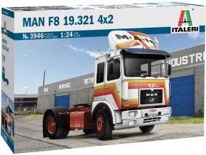 Italeri - MAN F8 19.321 4x2, Model Kit 3946, 1/24