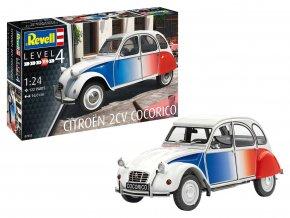 """Revell - Citroen 2CV """"Cocorico"""", Plastic ModelKit 07653, 1/24"""