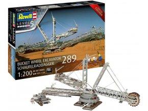 Revell - důlní rypadlo Bucket Wheel Excavator 289 / Schaufelradbagger 289, Gift-Set  05685, 1/200
