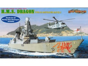 Dragon - torpédoborec H.M.S. Dragon Type 45, Model Kit 7109, 1/700