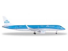 Herpa - Embraer ERJ-190, společnost KLM Cityhopper, Nizozemí, 1/500