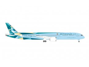 Herpa - Boeing B787-10, Etihad Airways Greenliner, Spojené Arabské Emiráty, 1/500