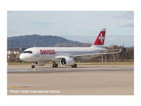 Herpa - Airbus A320 neo, společnost Swiss Air Lines, Švýcarsko, 1/500