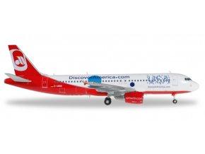 Herpa - Airbus A320-214, společnost Air Berlin, 2010, Německo, 1/200