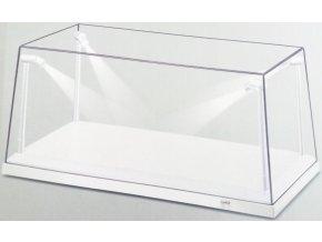 TRIPLE 9 - průhledná krabička na model s podstavcem a LED osvětlením, 35,5 x 15,6 x 16 cm