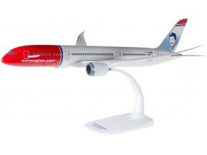 """Herpa - Boeing B787-9, společnost Norwegian Air UK, """"2010s"""" Colors, Named """"Freddie Mercury"""", Velká Británie, 1/200"""