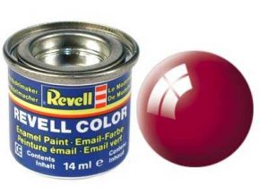 Revell - Barva emailová 14ml - lesklá ferrari červená (Ferrari red gloss), 32134