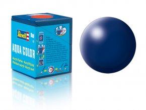 Revell - Barva akrylová 18 ml - hedvábná tmavě modrá (dark blue silk), 36350