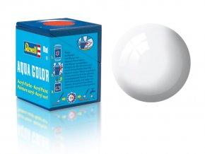 Revell - Barva akrylová 18 ml - leská bílá (white gloss), 36104