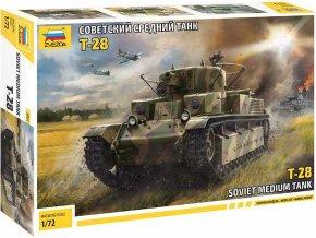 Zvezda - T-28, Model Kit 5064, 1/72