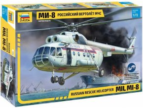 48278 zvezda mil mi 8 hip rescue helicopter model kit 7254 1 72