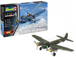 Revell - Junkers Ju88 A-1, Luftwaffe, Bitva o Británii, Plastic ModelKit 04972, 1/72
