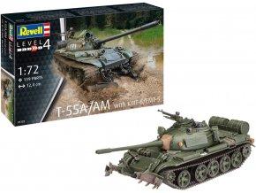 Revell - T-55A/AM s KMT-6/EMT-5, Plastic ModelKit 03328, 1/72