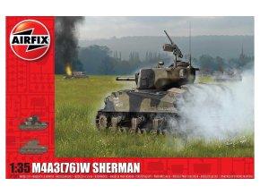 Airfix - M4A3(76)W Sherman, Classic Kit A1365, 1/35