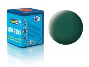 Revell - Barva akrylová 18 ml - č. 48 matná mořská zelená (sea green mat), 36148