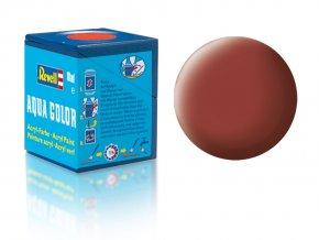 Revell - Barva akrylová 18 ml - matná rudohnědá (reddish brown mat), 36137