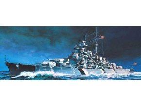 Academy - bitevní loď Bismarck, Model Kit 14218, 1/800