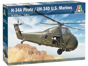 Italeri - Sikorsky H-34A Pirate / Sikorsky UH-34D, U.S. Marines, Model Kit 2776, 1/48