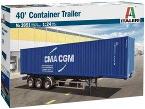 Italeri - návěs na kontajnery / 40' Container Trailer, Model Kit 3951, 1/24