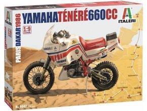 Italeri - Yamaha Tenere 660 cc Paris Dakar 1986, Model Kit 4642, 1/9