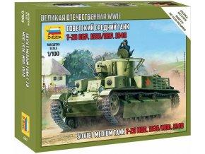 Zvezda - T-28, Snap Kit 6247, 1/100