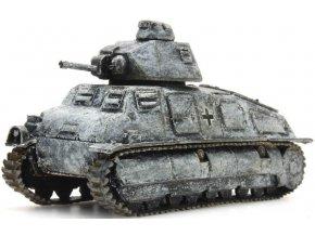 Artitec - Somua S35 Beutefahrzeug, Wehrmacht, zimní kamufláž, 1/87