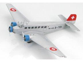 HobbyMaster - Junkers Ju-52/3M, Swiss Air, 1940s, 1/144