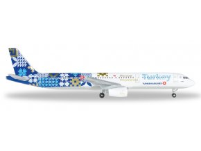 Herpa - Airbus A321-231, společnost Turkish Airlines, Turecko, 1/500