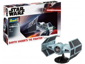Revell - Star Wars - Darth Vader's TIE Fighter, Plastic ModelKit SW 06780, 1/57