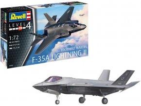 Revell - Lockheed Martin F-35A LightningII, Plastic ModelKit 03868, 1/72