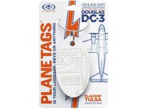 PlaneTags - přívěsek ze skutečného letadla Douglas DC-3 Dakota, NC-18141