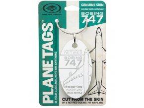 PlaneTags - přívěsek ze skutečného letadla Boeing 747 JumboJet, Southern Air