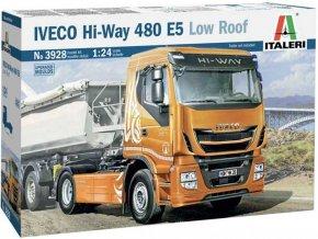 Italeri - IVECO HI-WAY 490 E5 (Low Roof), Model Kit 3928, 1/24