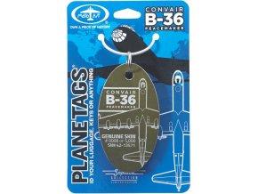 PlaneTags - přívěsek ze skutečného letadla Convair B-36 Peacemaker, registrace 42-13571