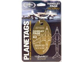 PlaneTags - přívěsek ze skutečného letadla Handley Page Victor K2, RAF, registrace XL191