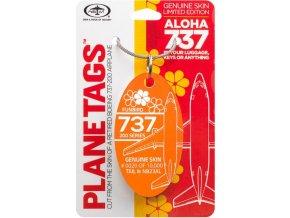 PlaneTags - přívěsek ze skutečného letadla Boeing 737-200, Aloha Airlines, registrace N823AL