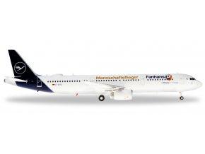 "Herpa - Airbus A321, společnost Lufthansa, ""2018"" Colors, Named ""Lindau"", ""Fanhansa Team Plane"" tittles, Německo, 1/200"