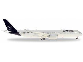 """Herpa - Airbus A350-941, společnost Lufthansa, """"2018"""" colors, Named """"Schwerin"""", Německo, 1/200"""