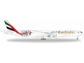 """Herpa - Boeing B777-31H(ER) , dopravce Emirates, """"2010s"""" colors with """"Hamburger SV"""" special colours, Spojené Arabské Emiráty, 1/200"""