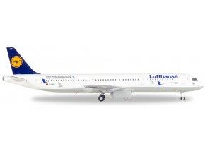 """Herpa - Airbus A321, společnost Lufthansa, """"25 Jahre Kranichschutz"""", Německo, 1/200"""