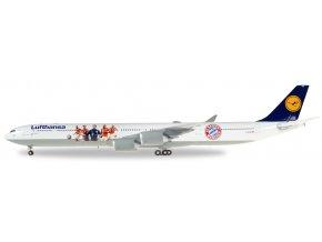 "Herpa - Airbus A340-602, dopravce Lufthansa, ""FC Bayern Audi Summer Tour USA 2016"", Německo, 1/200"
